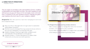 Director of Operations Service Page Loop Link Coachsulting written by The Quirky Pineapple Studio