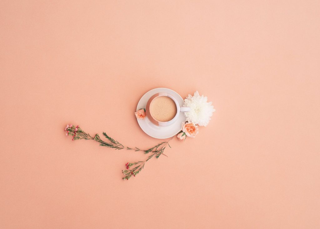 Picture of teacup with flowers