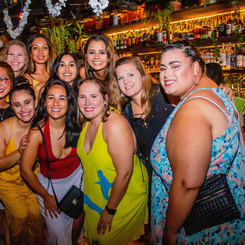 group of woc business owners posing in cartagena colombia