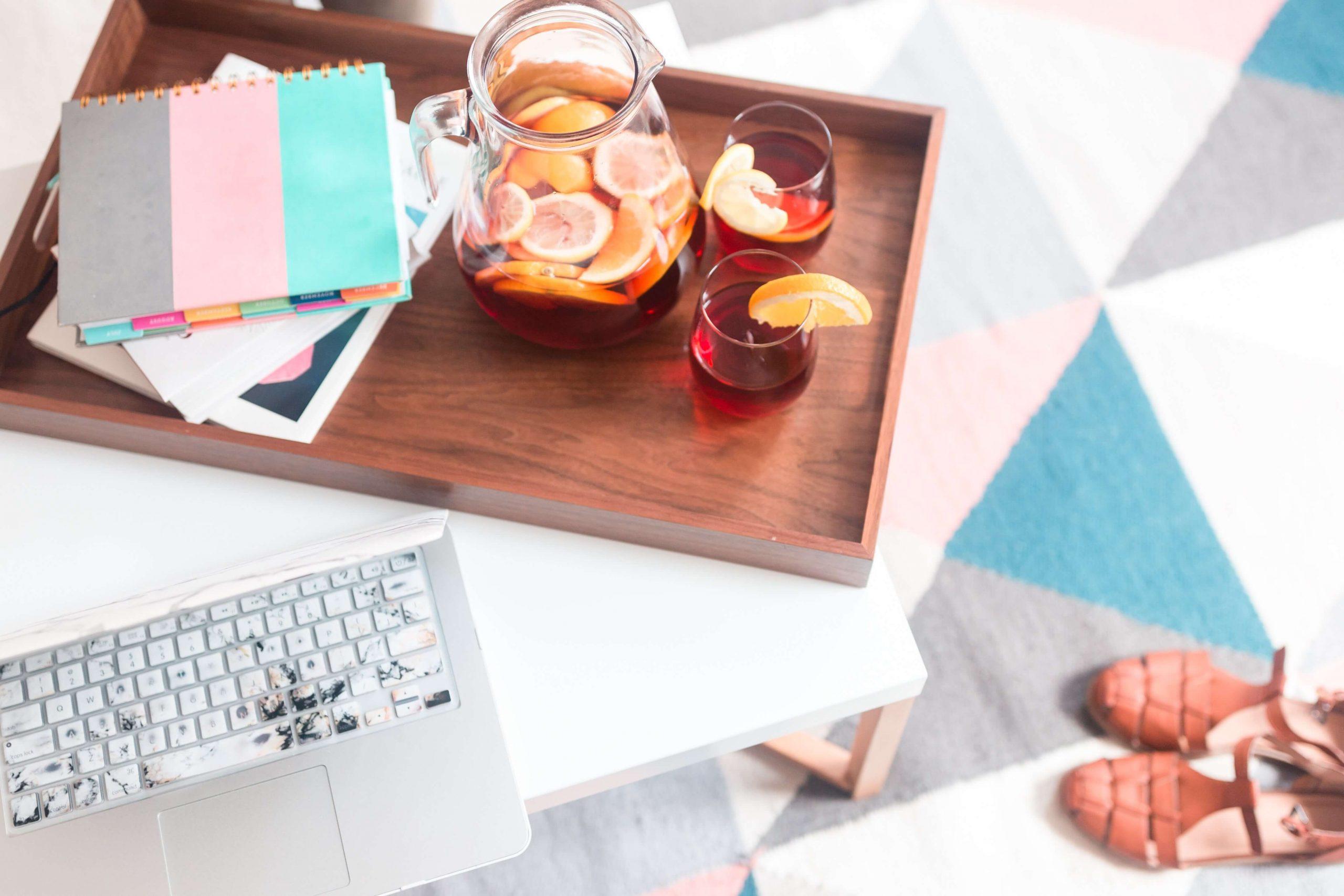 brand strategy and copywriting studio desk space