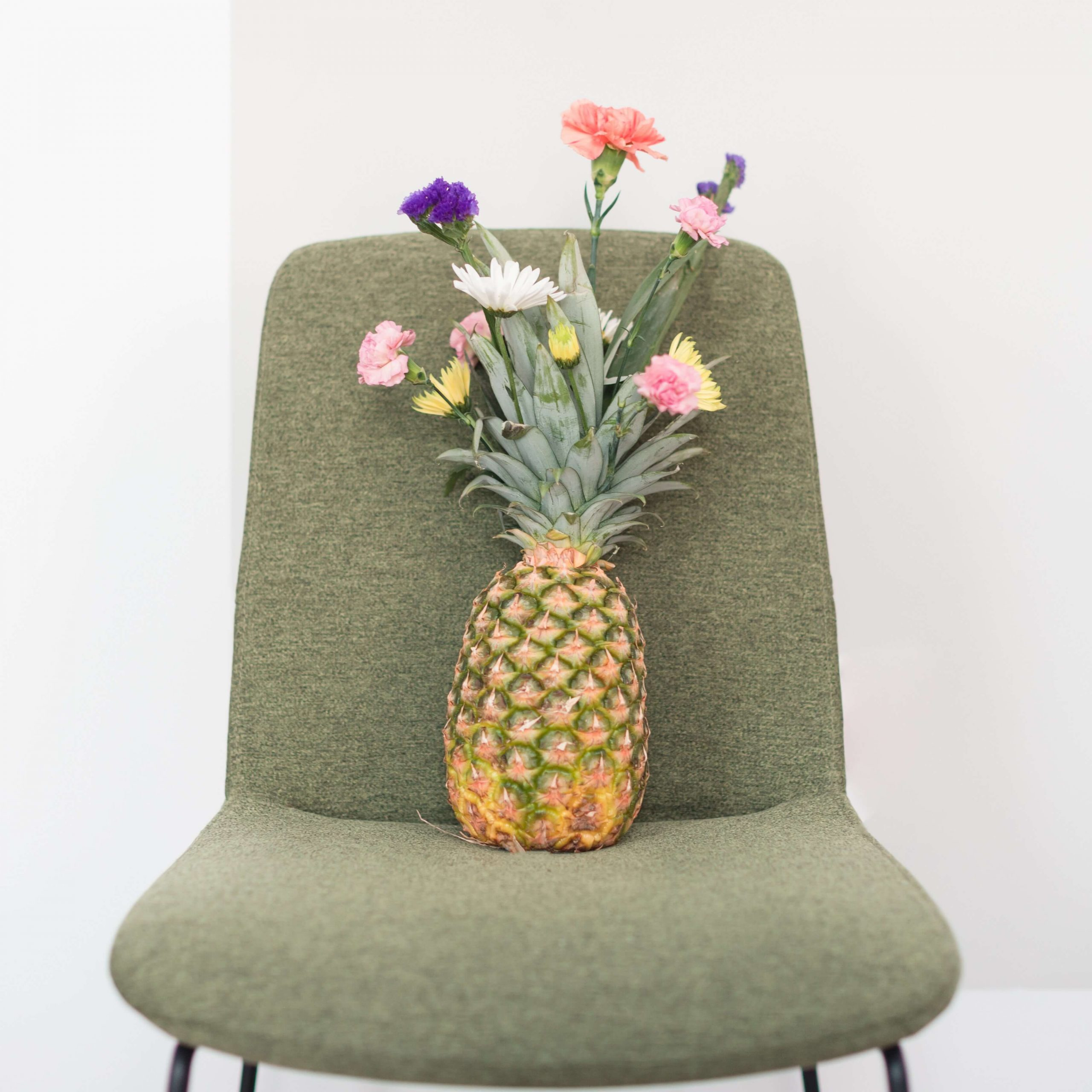 Pineapple with flowers