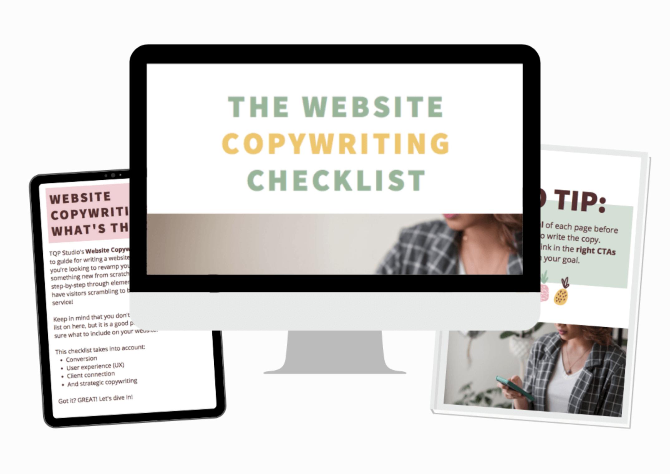 website copywriting checklist for service providers