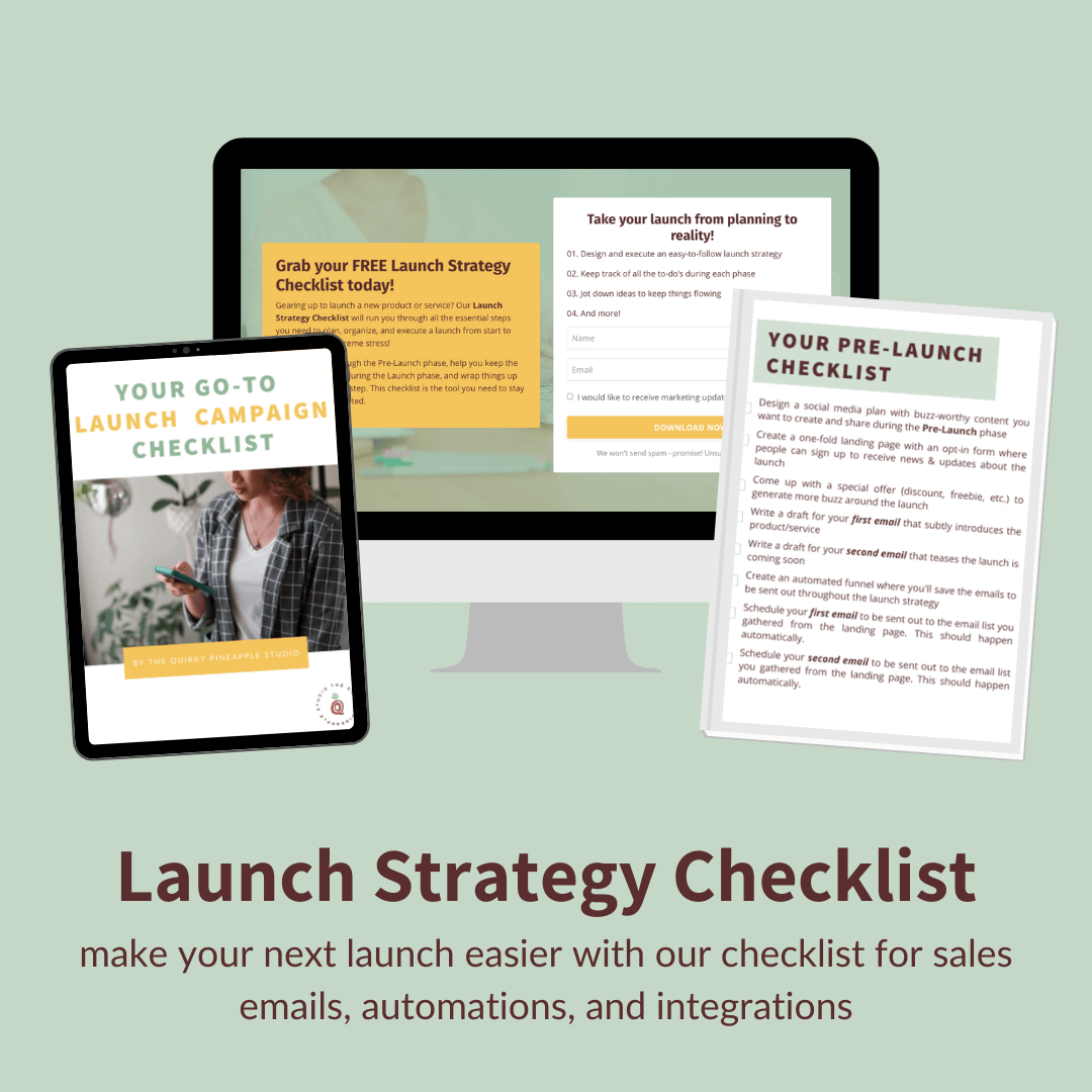 launch strategy checklist for business owners launching courses or programs