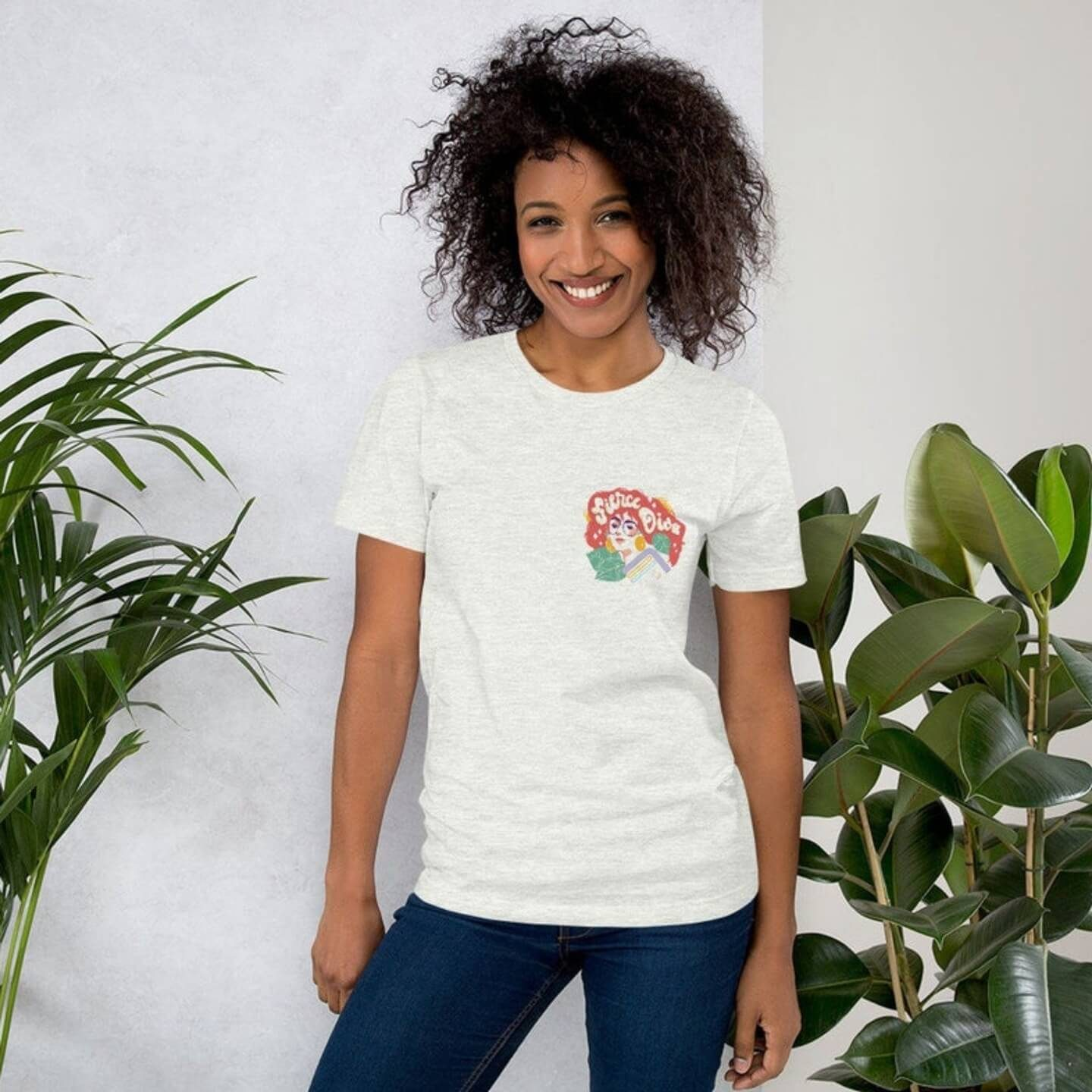 Woman wearing The Quirky Pineapple Studio Merch